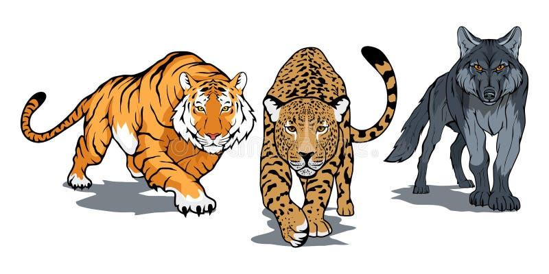 zwierzęta ustawiający royalty ilustracja