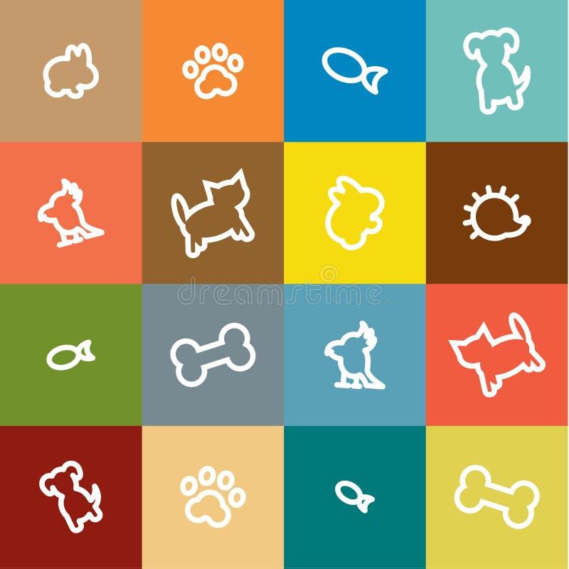 Download Zwierzęta W Liniowym Stylu Rysującym W Mieszkanie, Ikona Ilustracja Wektor - Ilustracja złożonej z kontur, hedgerow: 65226441