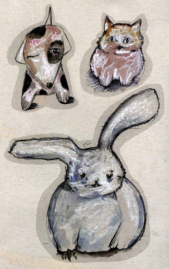Download Zwierzęcy rysunek ilustracji. Obraz złożonej z kreskówka - 12038497