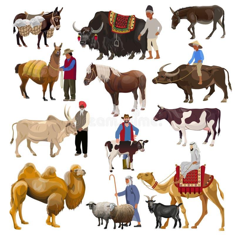 Zwierz?ta gospodarskie wektorowi royalty ilustracja