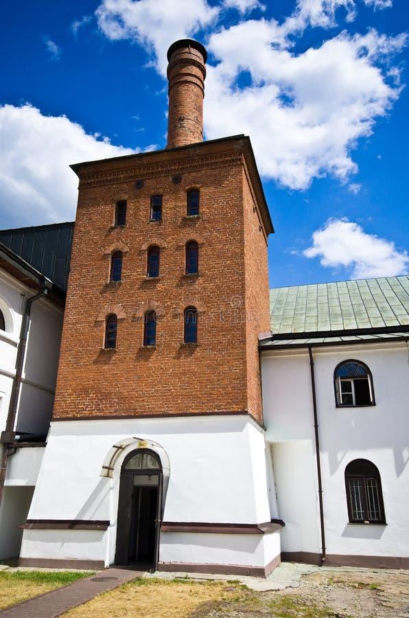 Zwierzyniec Polonia, el edificio viejo de la cervecería imágenes de archivo libres de regalías