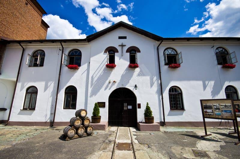Zwierzyniec Polonia, el edificio viejo de la cervecería foto de archivo libre de regalías
