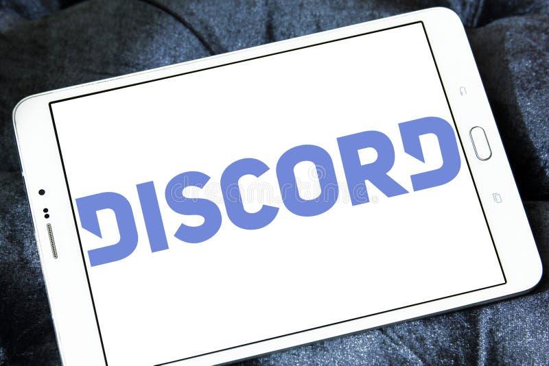 Zwietracht-Software-Logo lizenzfreie stockbilder