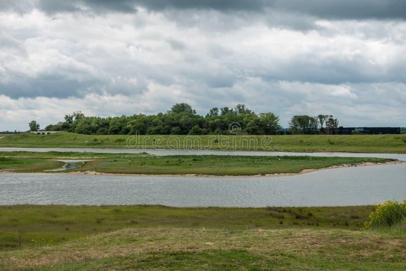 Zwin bird refuge plain, Knokke-Heist, Belgium. Knokke-Heist, Flanders, Belgium -  June 16, 2019: Knokke-Zoute part of town. Zwin bird refuge plain shows plenty royalty free stock photo