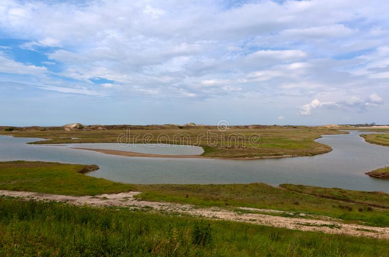 Nature reserve, Zwin, Bruges, Sluis, Belgium, Netherlands royalty free stock image
