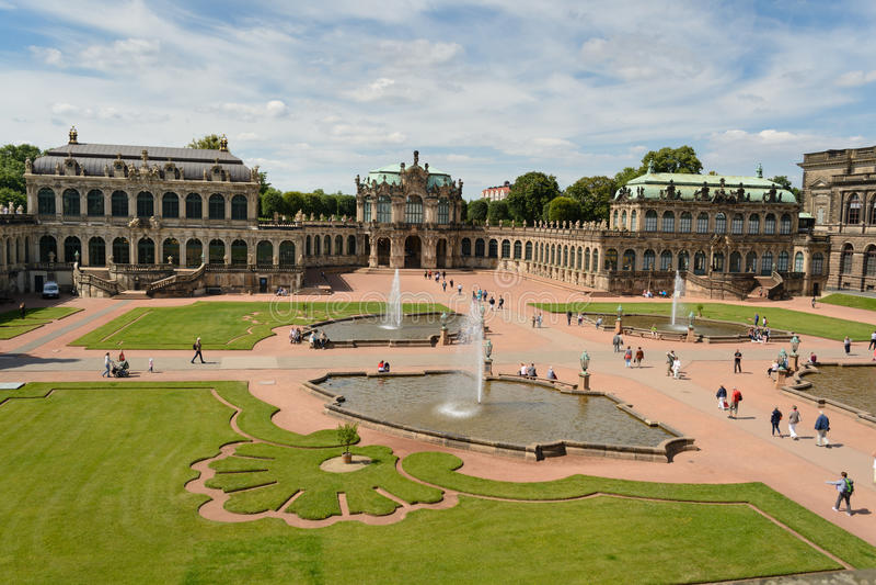 Zwinger宫殿 免版税库存图片
