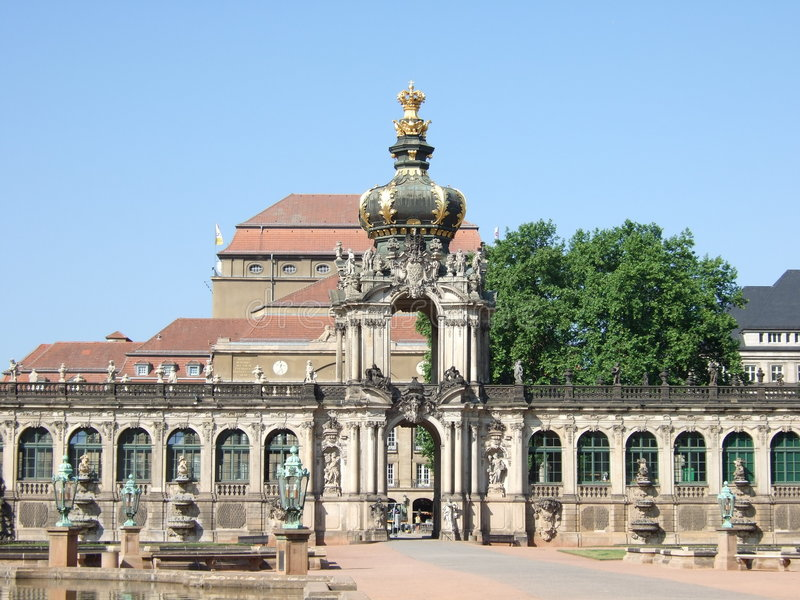 In The Zwinger, Dresden stock photo