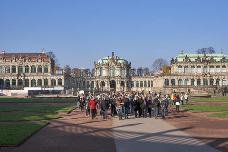 Zwinger Museum in Dresden, Germany stock photography