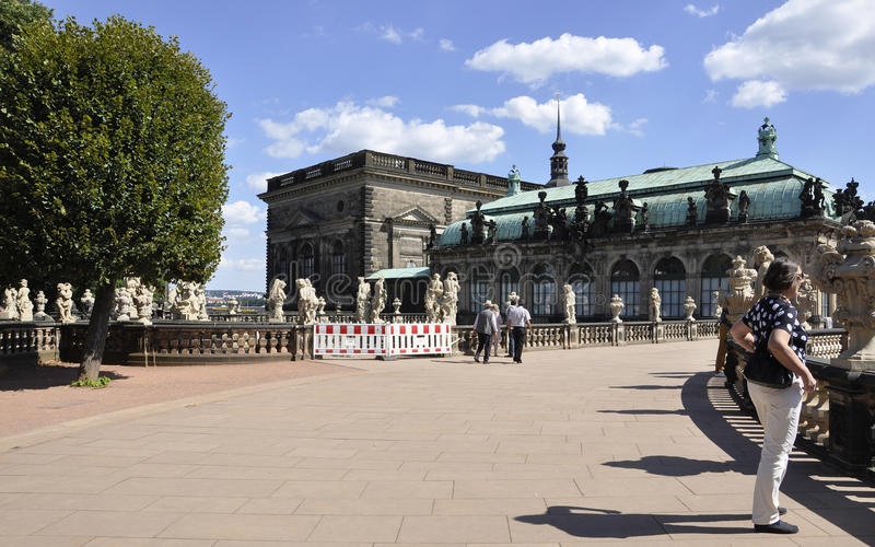 Zwinger Nymphs Bath Pavilion terrace from Dresden in Germany royalty free stock photo