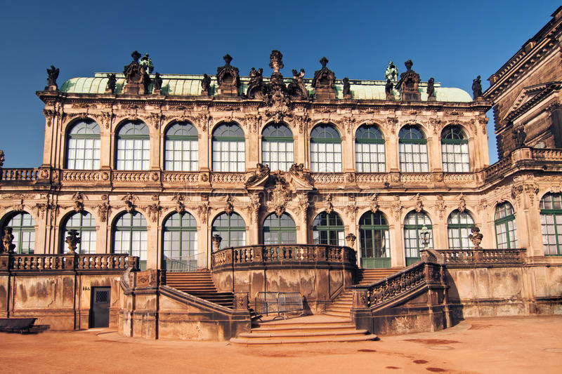 The Zwinger - palace in Dresden stock photography