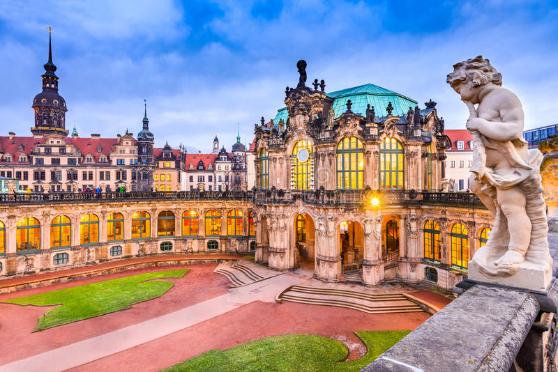 Zwinger Palace - Dresden, Saxony, Germany stock photography