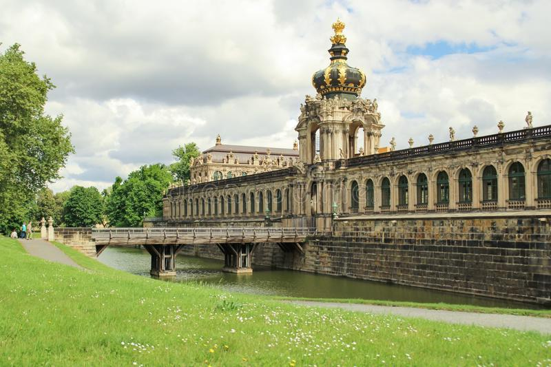 zwinger palace in German city of Dresden built in baroque style stock photo
