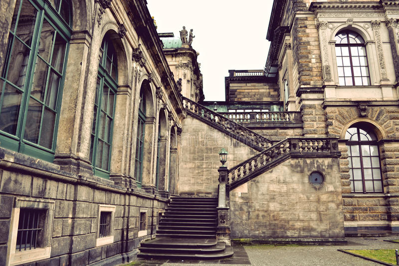 Zwinger Palace Staircase. Staircase of the Zwinger Palace in Dresden, Germany stock photo