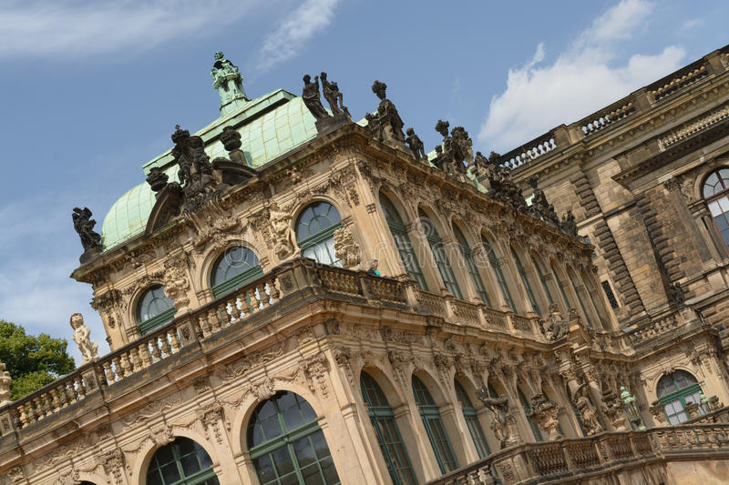 The Zwinger palace. A view of the The Zwinger complex at the historical center of Dresden, Germany royalty free stock photo