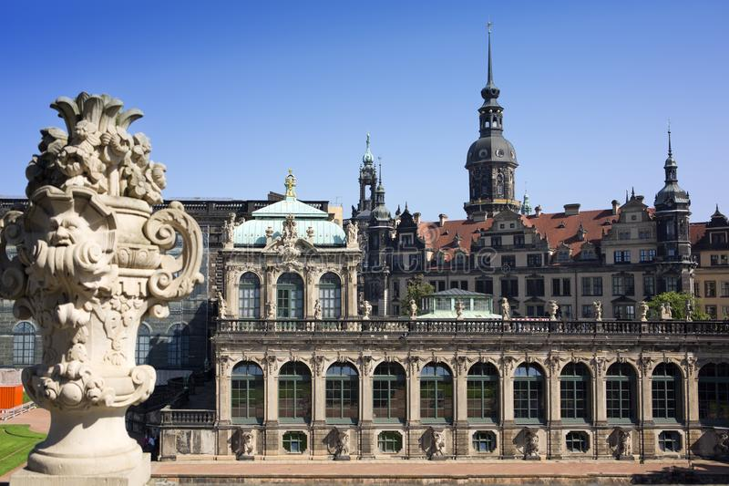 Zwinger palace, XVIII century - famous historic building in Dresden stock images