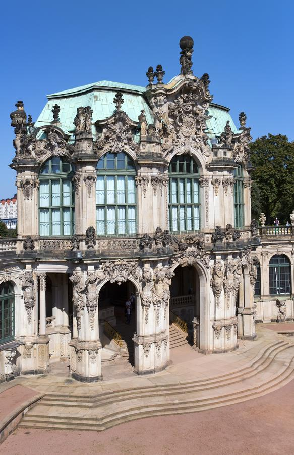 Zwinger palace, XVIII century - famous historic building in Dresden stock photography
