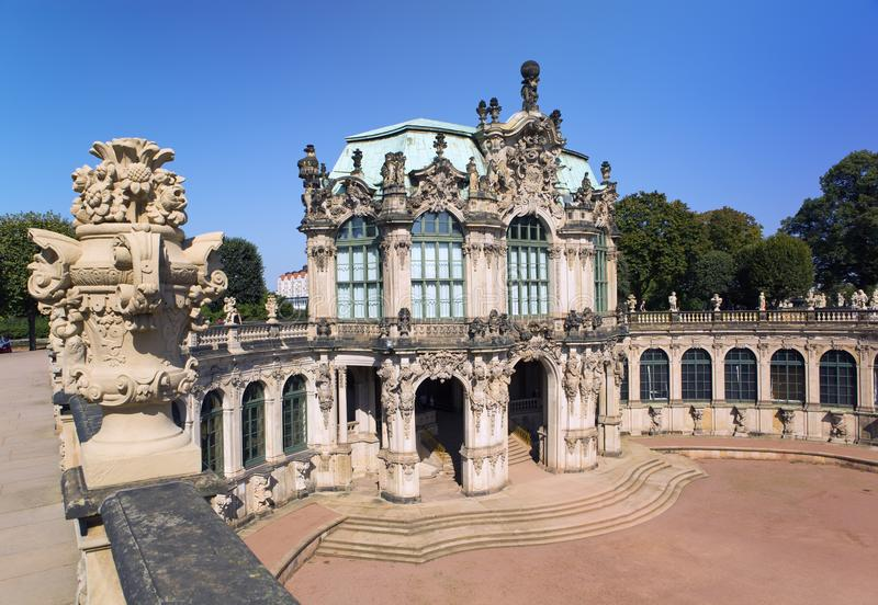 Zwinger palace, XVIII century - famous historic building in Dresden stock photo