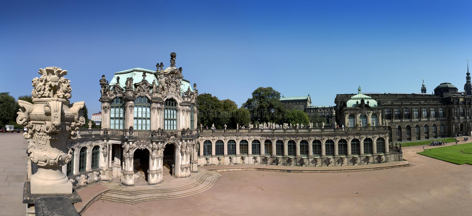 Zwinger palace, XVIII century - famous historic building in Dresden stock photos