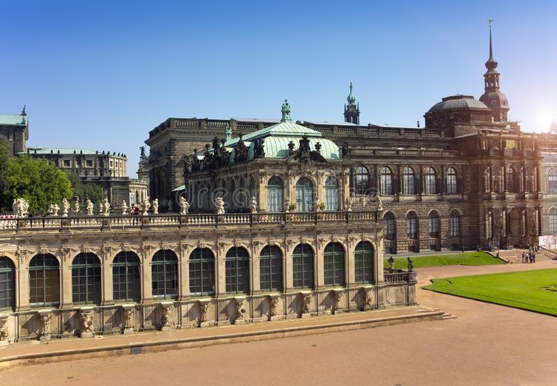 Zwinger palace, XVIII century - famous historic building royalty free stock photography