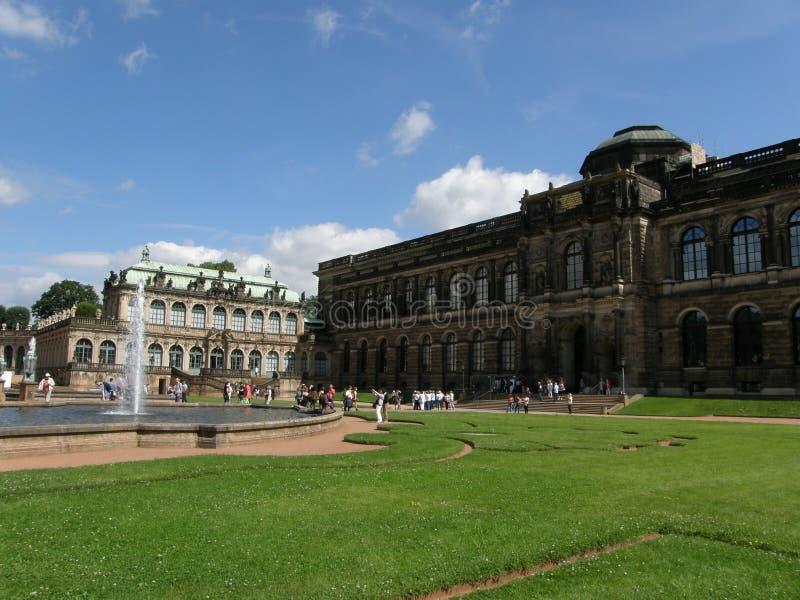 Zwingerpaleis in Dresden, Saksen, Duitsland stock fotografie