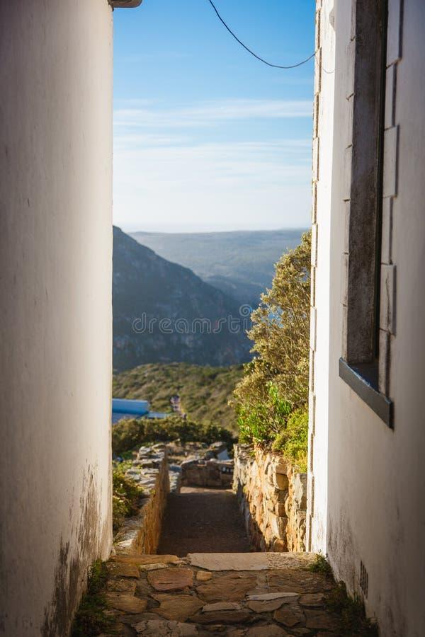 Zwischen Wänden Kap-Punkt, Südafrika lizenzfreie stockfotografie