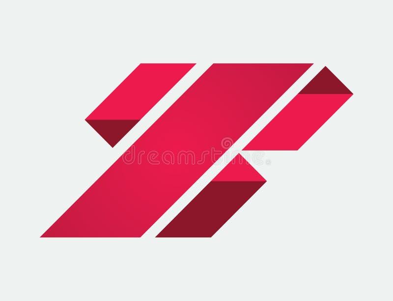 Zwischenlage Mag Abstrac Logo Design lizenzfreie stockfotografie