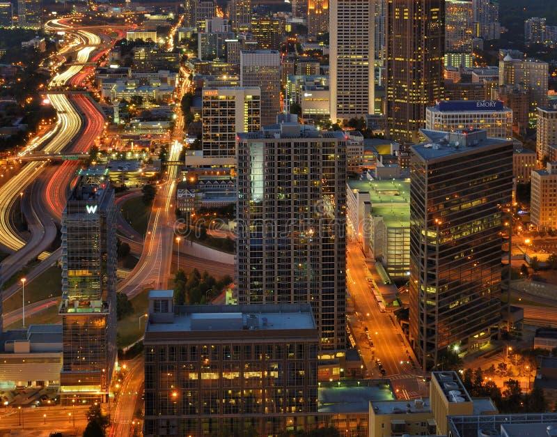 Zwischenstaatliche 85 in Atlanta lizenzfreies stockbild