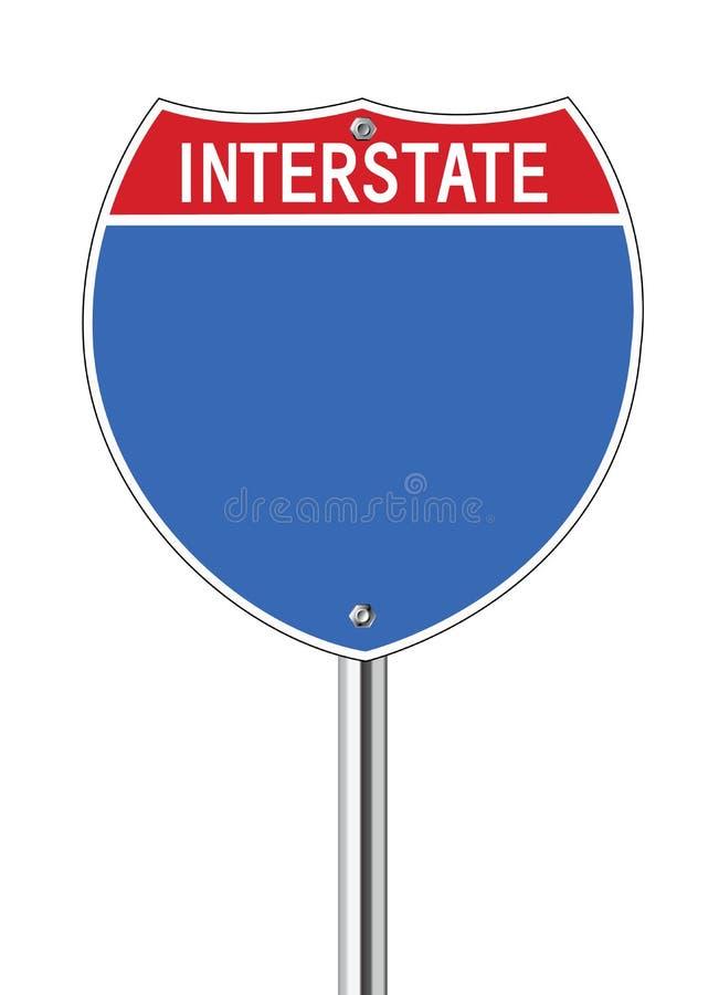 Zwischenstaatliches Zeichen stock abbildung