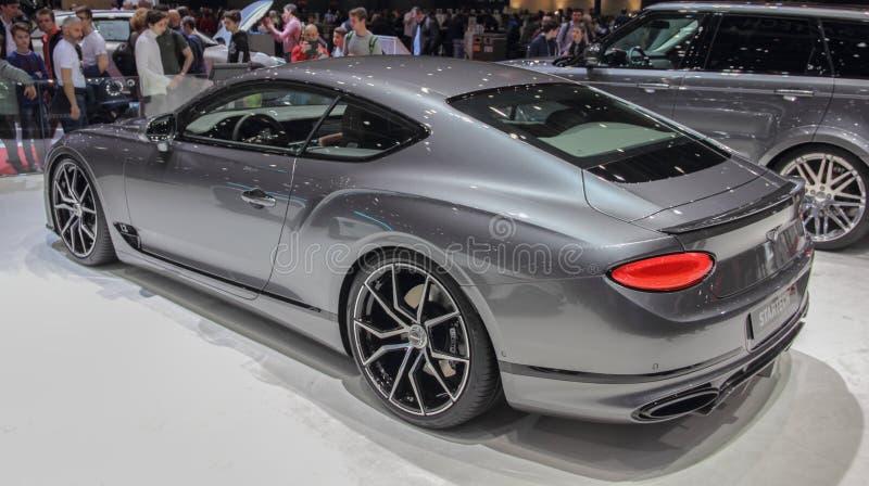 Zwitserland; Genève; 9 maart, 2019; Bentley Startech; De 89ste Internationale Motorshow in Genève van zevende tot 17 van Maart, 2 royalty-vrije stock fotografie