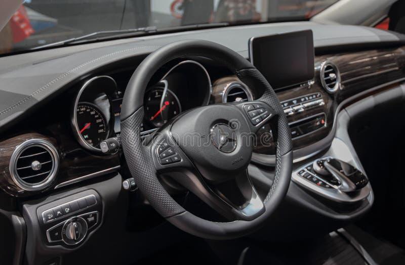 Zwitserland; Genève; 8 maart, 2018; Mercedes-Benz Marco Polo HOR royalty-vrije stock foto