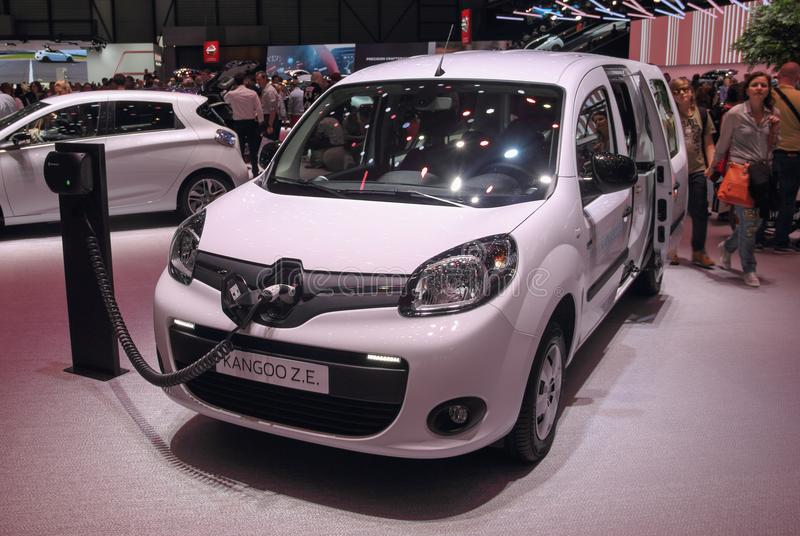Zwitserland; Genève; 8 maart, 2018; Renault Kangoo Z e bein stock foto