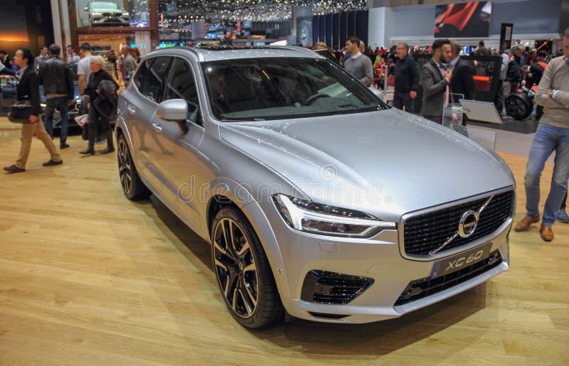Zwitserland; Genève; 8 maart, 2018; Volvo XC60; 88ste Int. royalty-vrije stock afbeeldingen