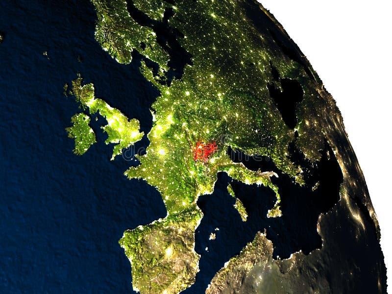 Zwitserland van ruimte royalty-vrije illustratie