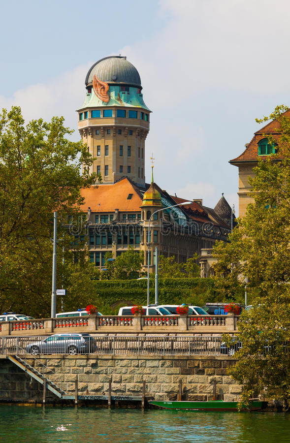 zwitserland zürich De Limmat-Rivier royalty-vrije stock foto