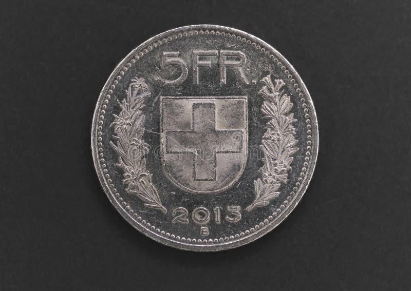 Zwitsers 5 Fr zilveren muntstuk