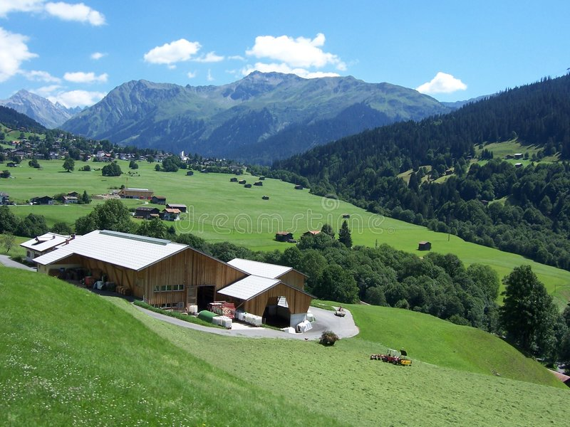 Zwitsers Landbouwbedrijf royalty-vrije stock foto