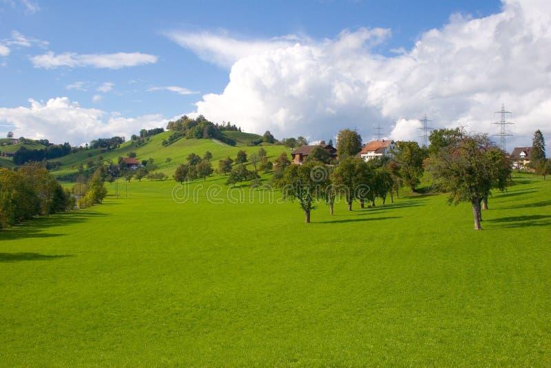 Download Zwitsers landschap stock foto. Afbeelding bestaande uit zonnig - 34150