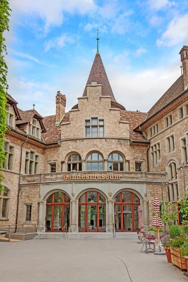 Zwitsers Nationaal museum Landesmuseum in Zürich, Zwitserland royalty-vrije stock foto's