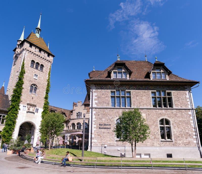 Zwitsers Nationaal Museum, Zürich stock foto