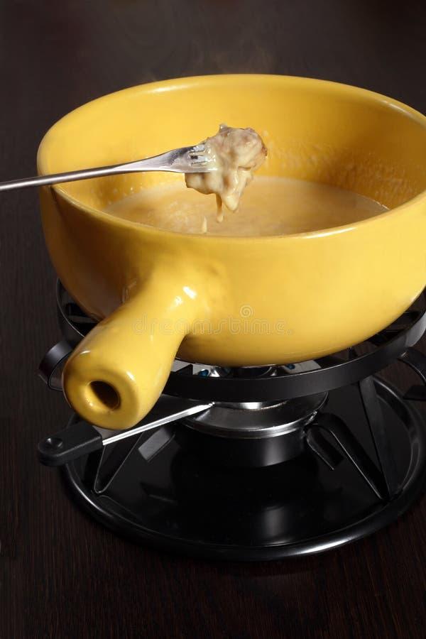Zwitserse fondue stock foto