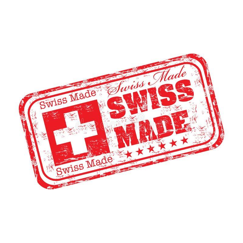 Zwitserse gemaakte grunge rubberzegel vector illustratie