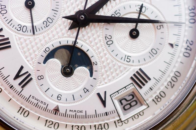 Zwitserse horloge dichte omhooggaand stock afbeeldingen