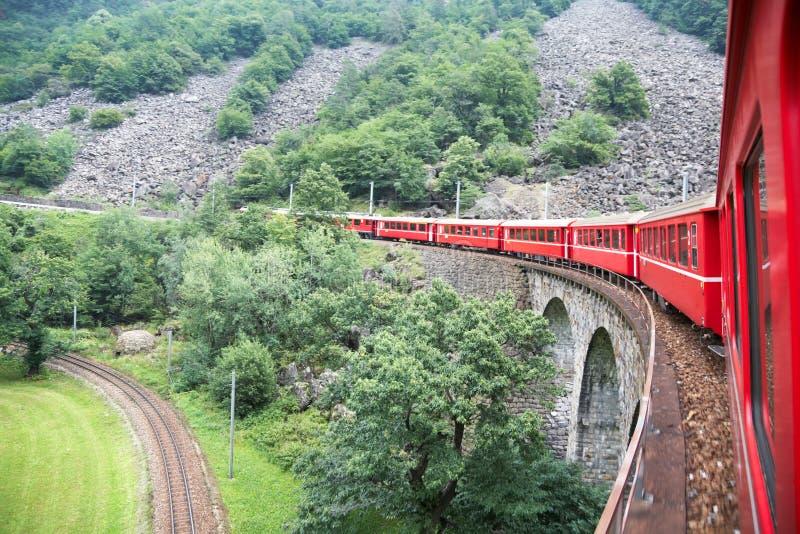 Zwitserse trein stock fotografie