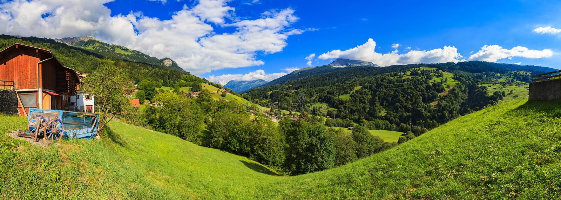 Zwitserse vallei royalty-vrije stock foto's