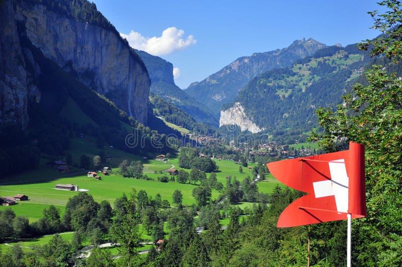 Zwitserse valleimening royalty-vrije stock foto