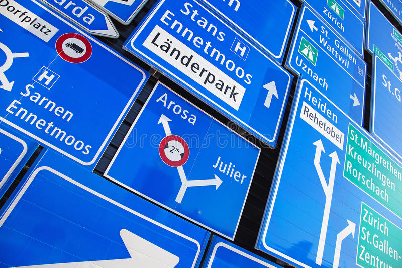 Zwitserse verkeersteken stock fotografie