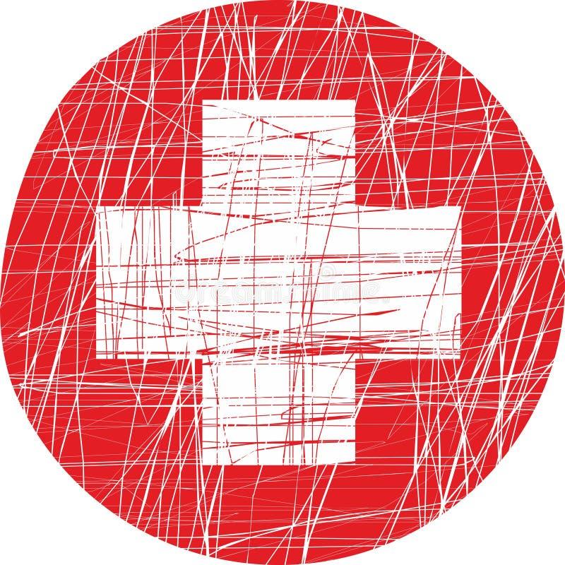 Zwitserse vlag vector illustratie
