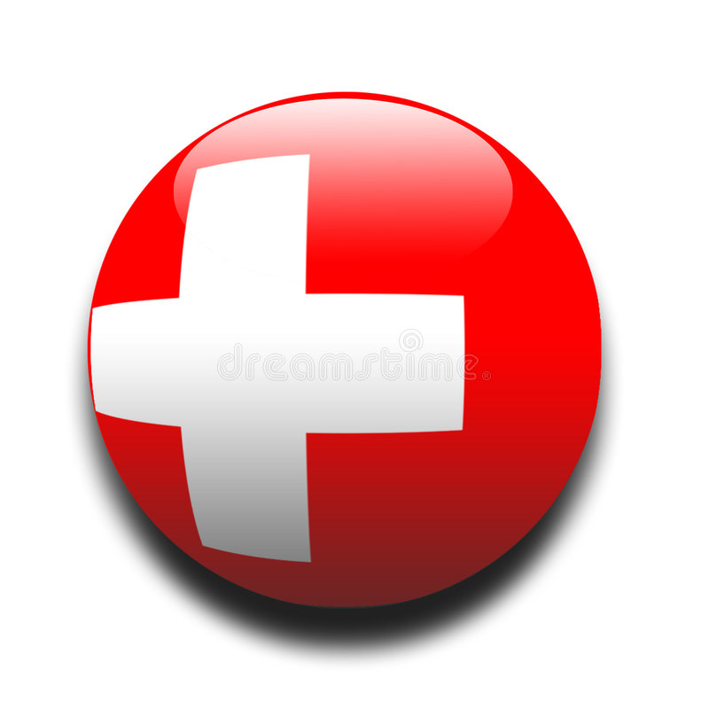 Zwitserse vlag royalty-vrije illustratie