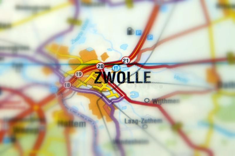 City of Zwolle - Netherlands. Zwolle is a city in the northeastern Netherlands serving as Overijssel`s capital royalty free stock photos