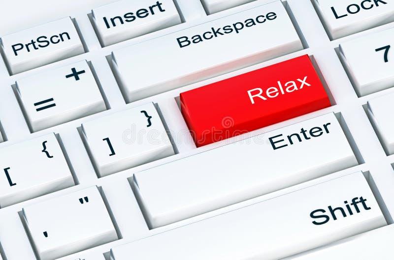 Zwolnij przycisk na białej klawiaturze komputera obraz royalty free